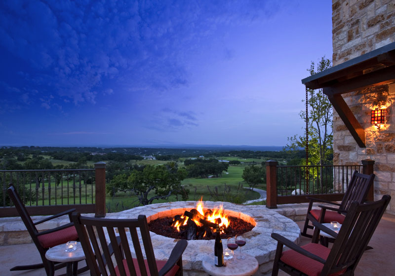 country club architecture fire pit design