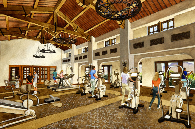 golf club fitness facility
