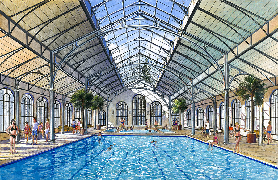 country club indoor pool facility