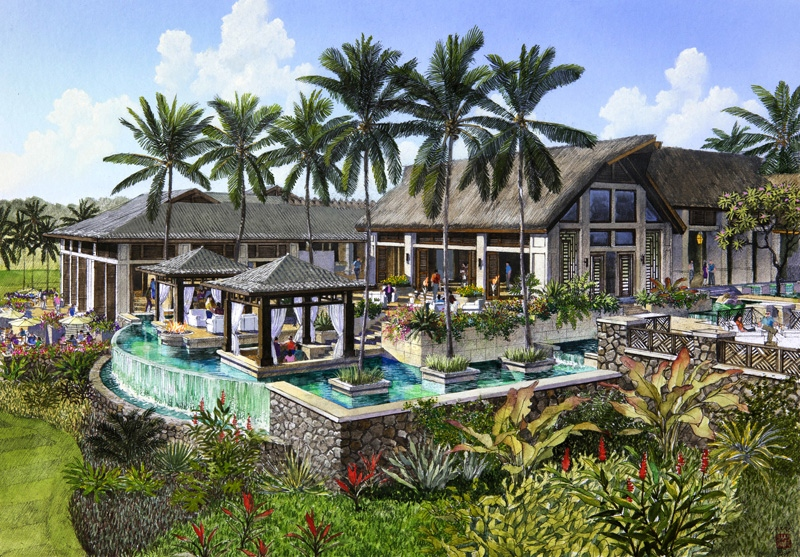 golf clubhouse tropical architecture design